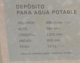 DEPóSITO DE AGUA 500 LITROS