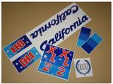 XL2 BH CALIFORNIA PEGATINAS
