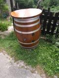 Mesa de madera de barril - foto