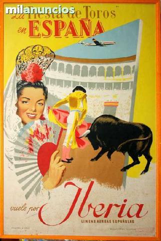 Cartel iberia fiesta de toros en espaÑa - foto 1