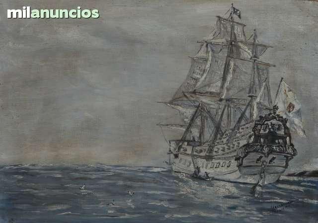 Pintura de un barco por a, hernÁndez - foto 1
