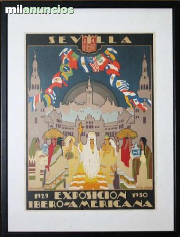 Cartel de exposiciÓn iberoamericana - foto 1