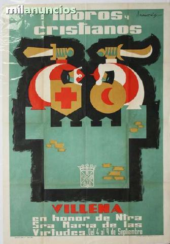 Cartel de moros y cristianos, villena - foto 1