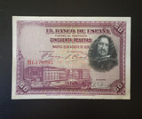 1928 BILLETE 50 CINCUENTA PESETAS