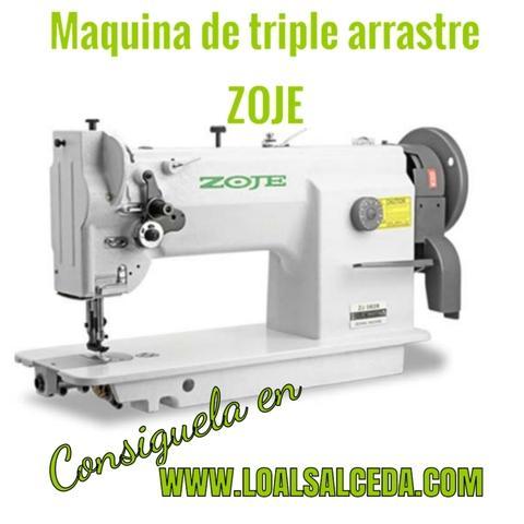 Maquina de coser de triple arrastre zoje - foto 1