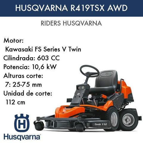 Rider Husqvarna R419TSX - foto 1