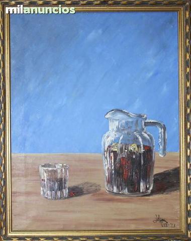 Pintura de j. anga - jarra y vaso - foto 1