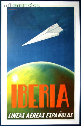 Cartel iberia lineas aereas espaÑolas - foto 1