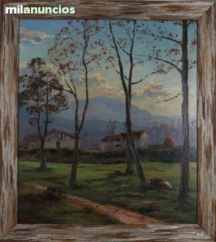 Pintura de isidre Ódena - plana de olot - foto 1