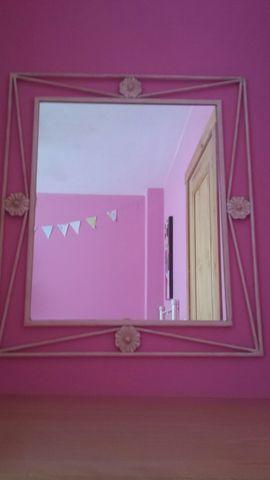 Cabecero de 90 y espejo de forja - foto 1