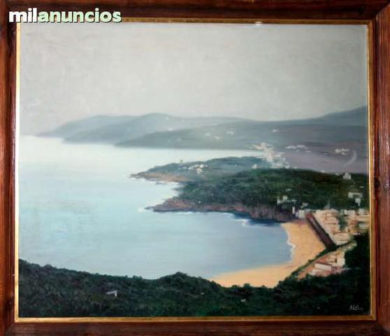 Pintura de j. coll - paisaje costero - foto 1