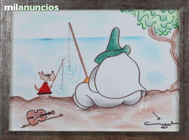 Dibujo de xavier cugat - la pesca - foto 1