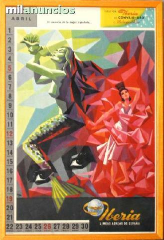 Cartel iberia, calendario abril de 1959 - foto 1