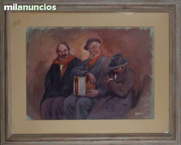 Personajes con acordeÓn - firma ilegible - foto 1