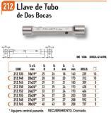 RELACIÓN LLAVES TUBO DOS BOCAS 212