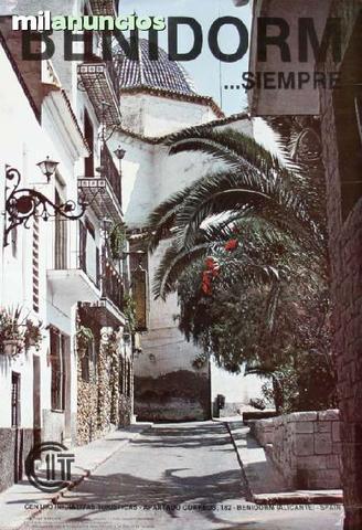Cartel turismo aÑos 70 benidorm - foto 1