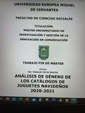 TFM ANáLISIS DE GéNERO CATáLOGOS NAVIDAD
