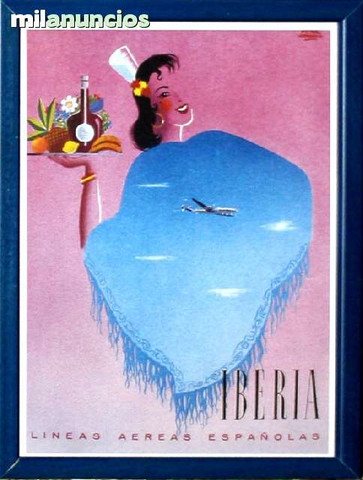 Cartel de iberia - estampa andaluza - foto 1