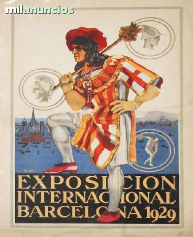 Cartel  exposiciÓn internacional de bcn - foto 1