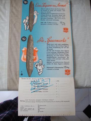 Despegable publicidad tabaco aleman - foto 1