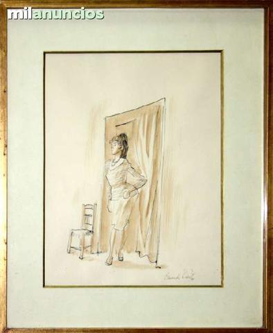 Dibujo de eduardo vicente - mujer de pie - foto 1