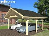 Porches, cocheras y garajes de madera - foto