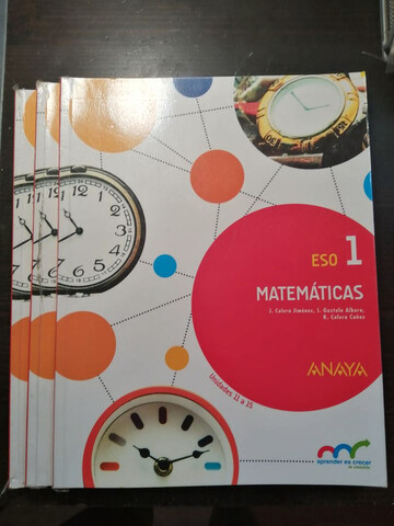 Libro Matemáticas 1 ESO ANAYA - foto 1