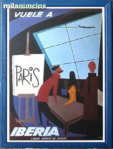 Cartel iberia - estampa parÍs - foto 1
