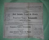 SE VENDE RECORDATORIO PERIODICO FRANCO