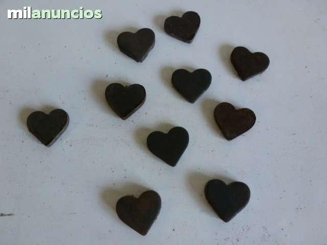 Juego de 10 corazones de hierro - foto 1
