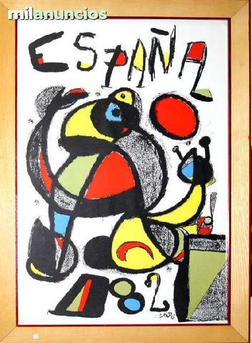 Cartel de joan mirÓ - espaÑa 82 - foto 1