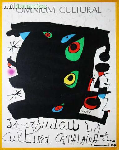Cartel de joan mirÓ - omnium cultural - foto 1