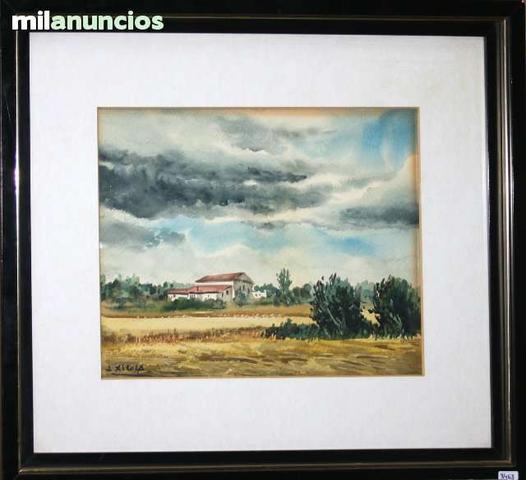 Acuarela de j.xicola - paisaje rural - foto 1