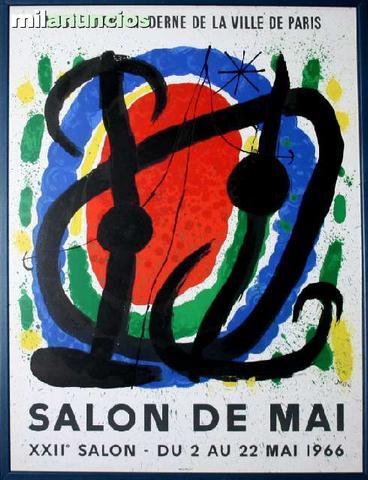 Cartel de joan mirÓ - salon de mai - foto 1