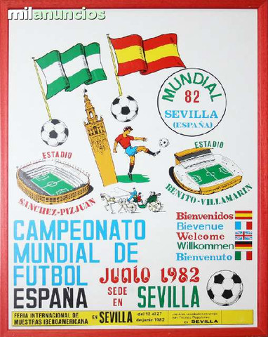 Cartel sevilla, sede mundial espaÑa, 82 - foto 1