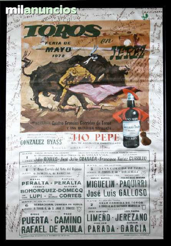 Cartel toros en jerez. feria de mayo  72 - foto 1