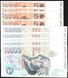 BILLETES LOTE DE 9 ,DE 5000 Y 10000 PTAS