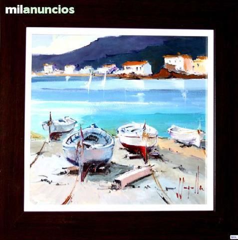 Pintura de joan sarquella - barcas - foto 1