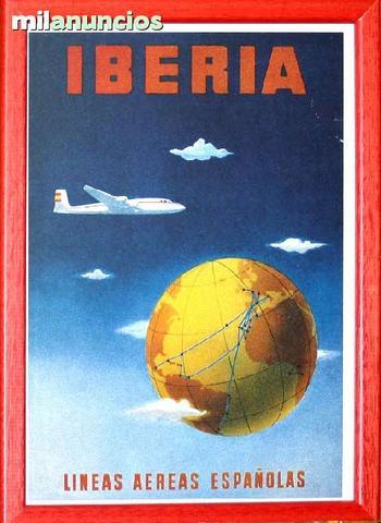 Cartel de iberia lineas aereas espaÑolas - foto 1