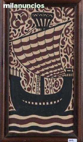 CerÁmica sobre madera - barco - foto 1