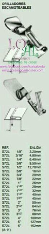 Embudo dobladillos Maquina de coser - foto 1