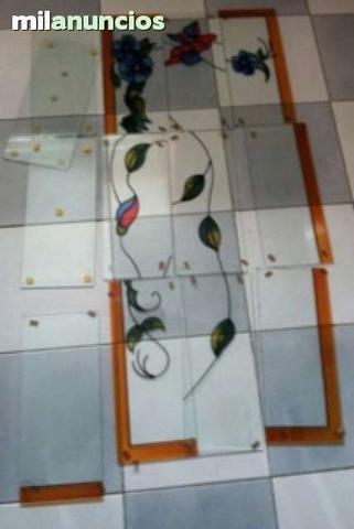 Cristales  decorados 95 euro negociables - foto 1