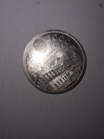 Moneda de plata 2000 pts.1995 - foto 1