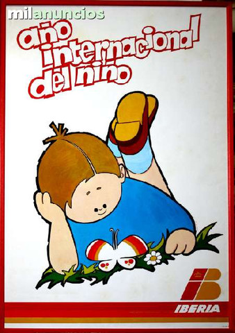 Cartel iberia aÑo internacional del niÑo - foto 1