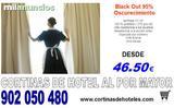 CORTINAS OPACAS 95% OPACIDAD PARA HOTEL