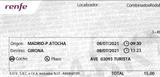 BILLETES AVE: MADRID -> GIRONA -> MADRID