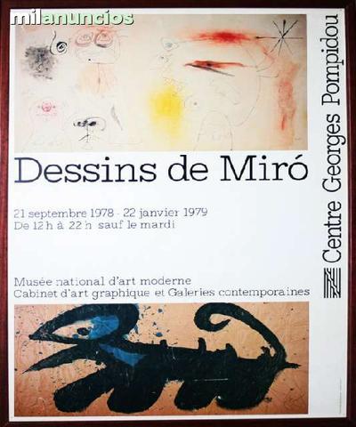 Cartel de joan mirÓ - dessins de mirÓ - foto 1