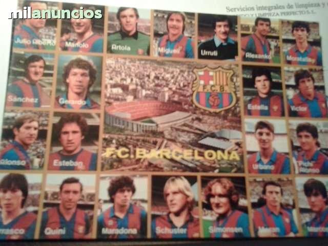 Postales plantilla aÑos 80 f.c. barcelon - foto 1