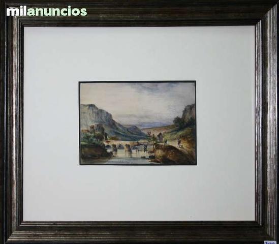 Acuarela de luis Álvarez catalÁ, paisaje - foto 1