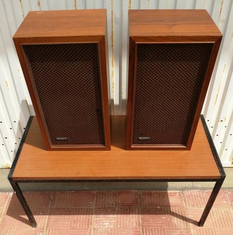 2 altavoces antiguos marca sony. - foto 1